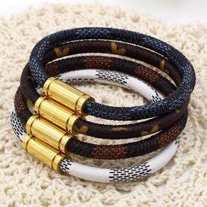 Jewelry - Faux Leather Bracelet w/Titanium Steel Clasp